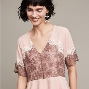 Pink Lace Anthropologie Top